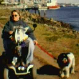 Me on my scooter