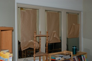 New windows with lovely window treatment