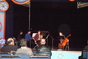 Students play chamber music.
