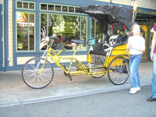 Voodoo bicycle rickshaw.